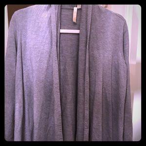 J Jill grey jersey jacket